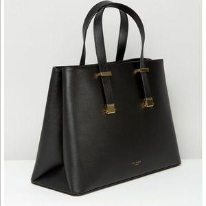 💝Ted Baker SEVINA Crosshatch Leather Tote Bag.